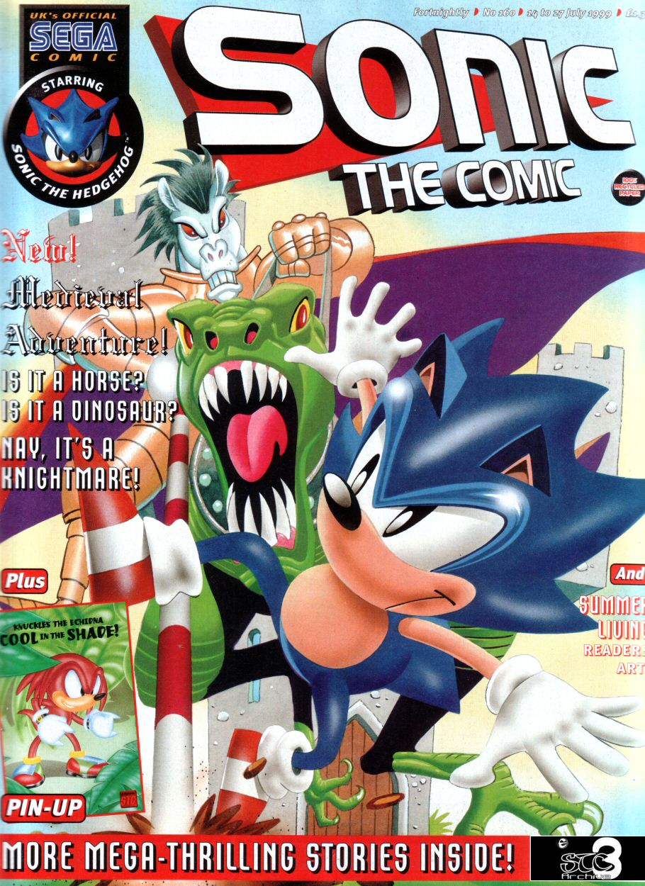 Sonic - The Comic Issue No. 160 Cover Page