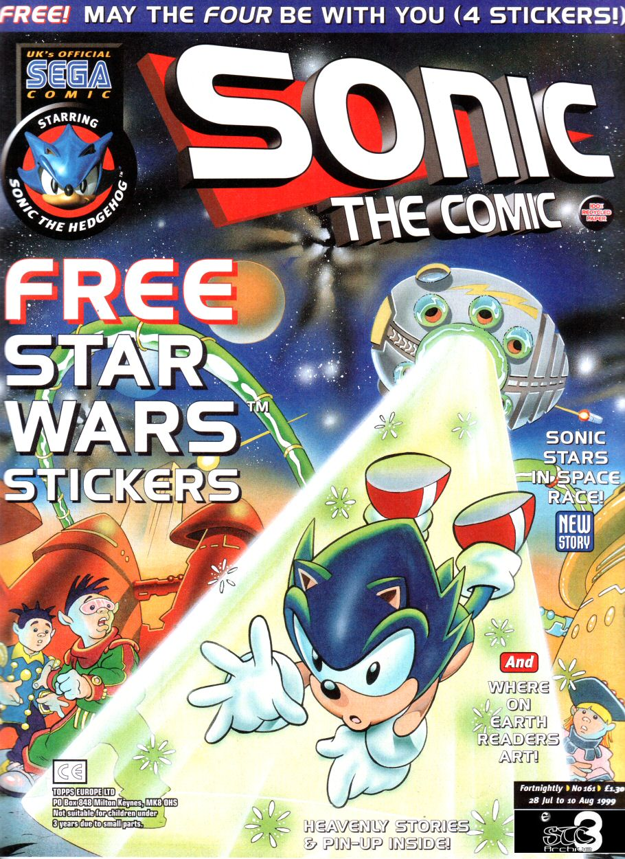 Sonic - The Comic Issue No. 161 Comic cover page