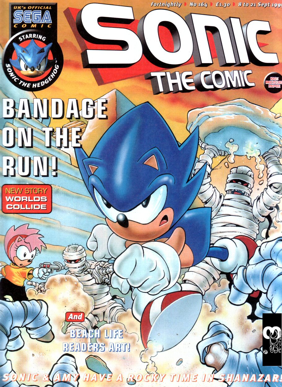 Sonic - The Comic Issue No. 164 Comic cover page