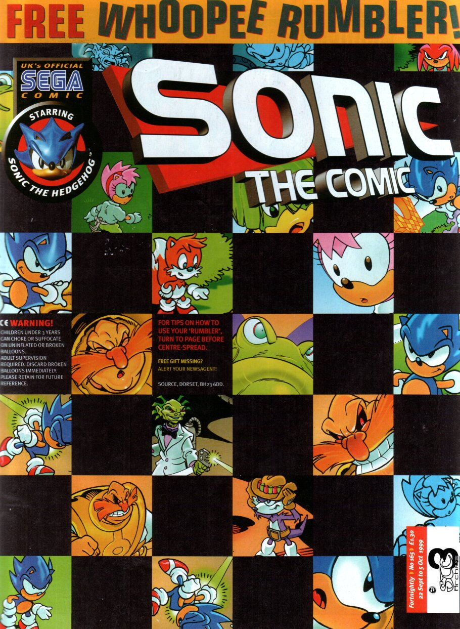 Sonic - The Comic Issue No. 165 Cover Page