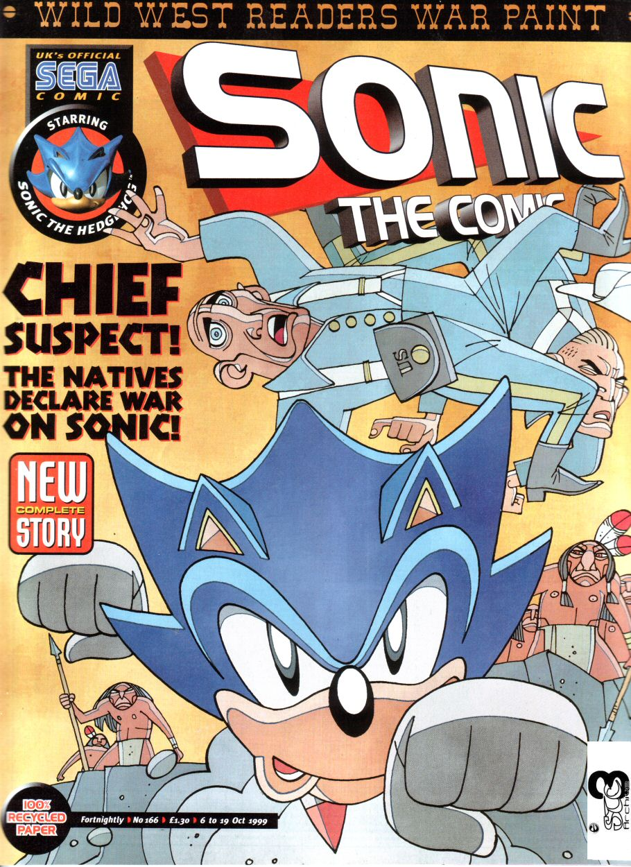 Sonic - The Comic Issue No. 166 Cover Page