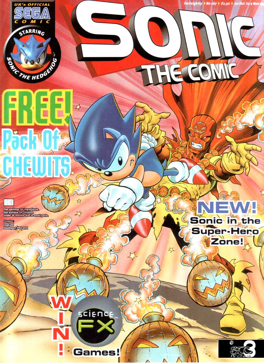 Sonic - The Comic Issue No. 167 Comic cover page