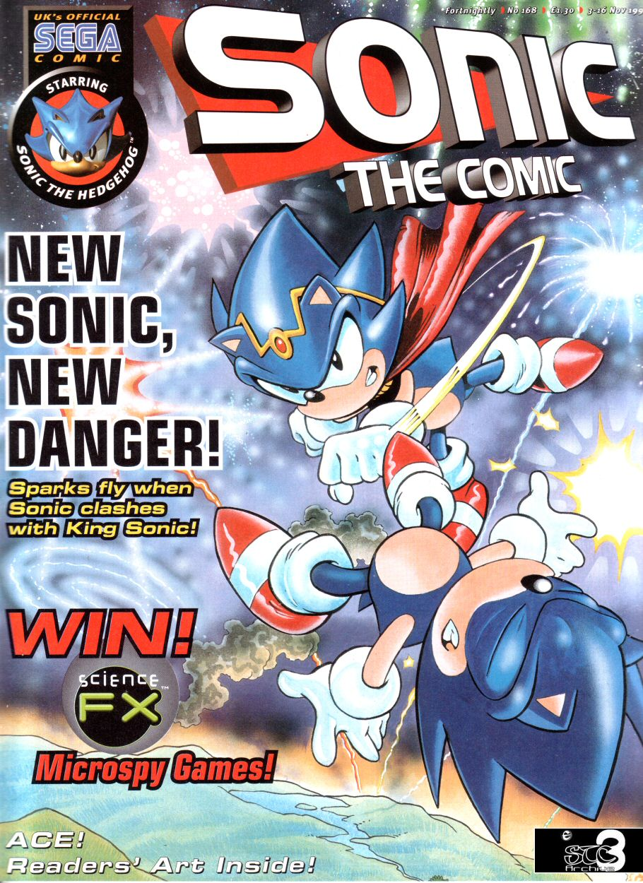 Sonic - The Comic Issue No. 168 Comic cover page