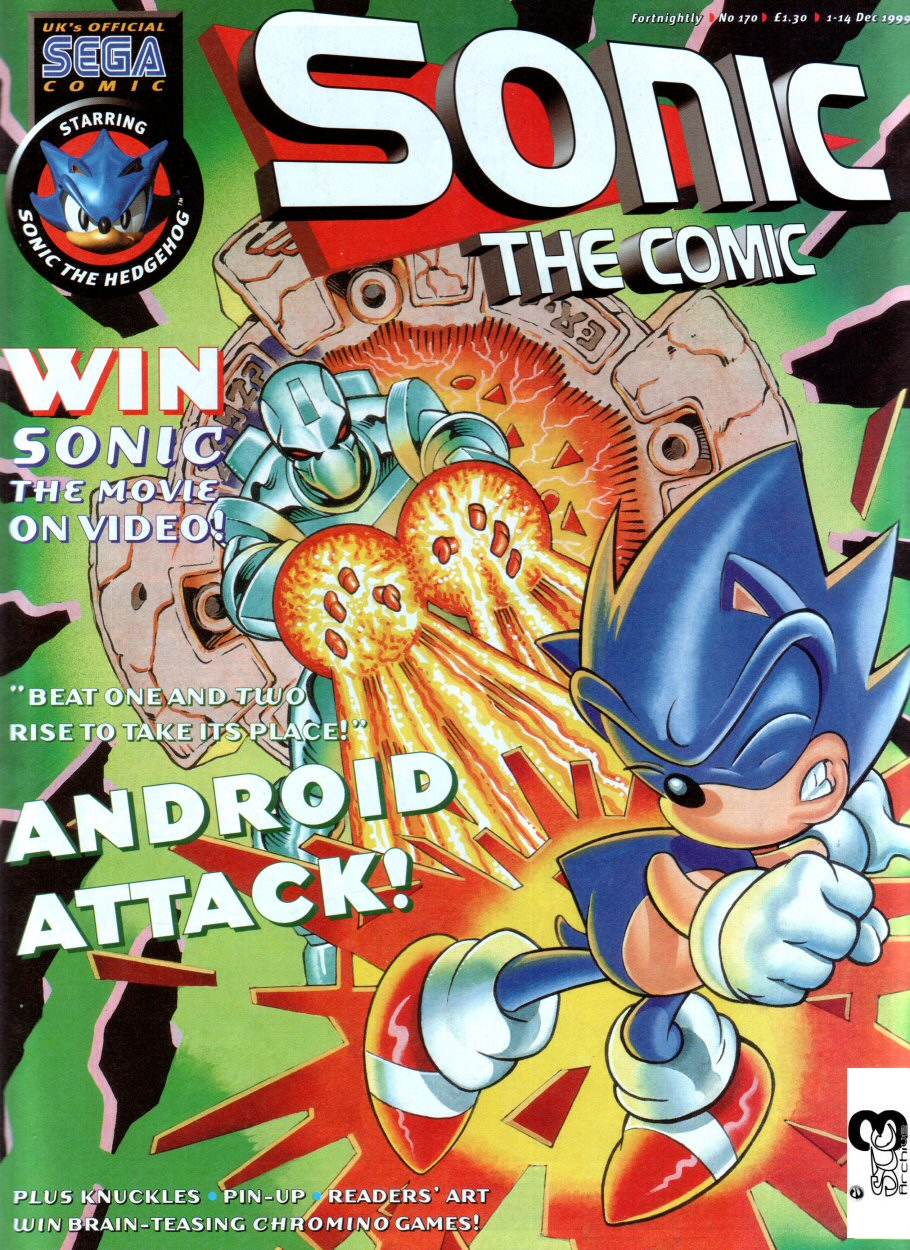 Sonic - The Comic Issue No. 170 Cover Page