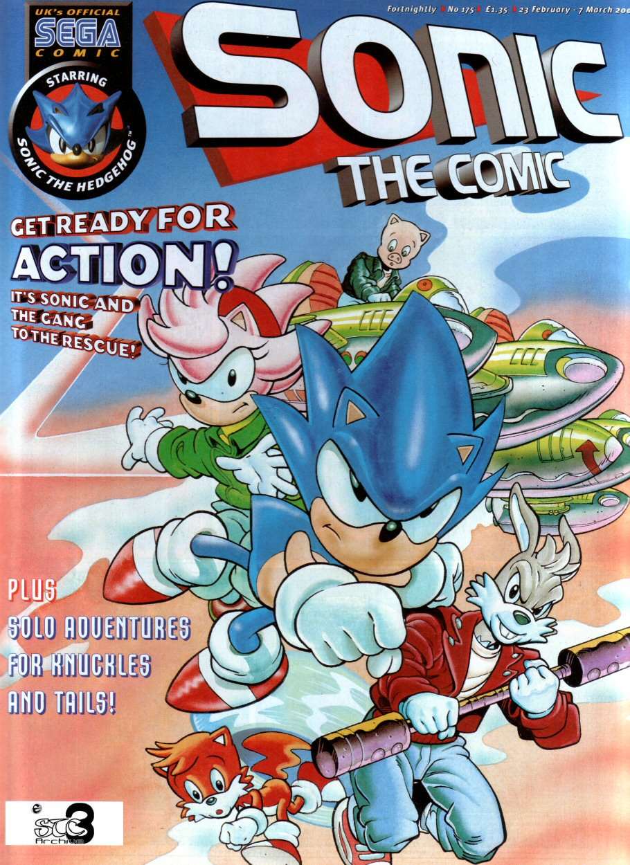 Sonic - The Comic Issue No. 175 Cover Page