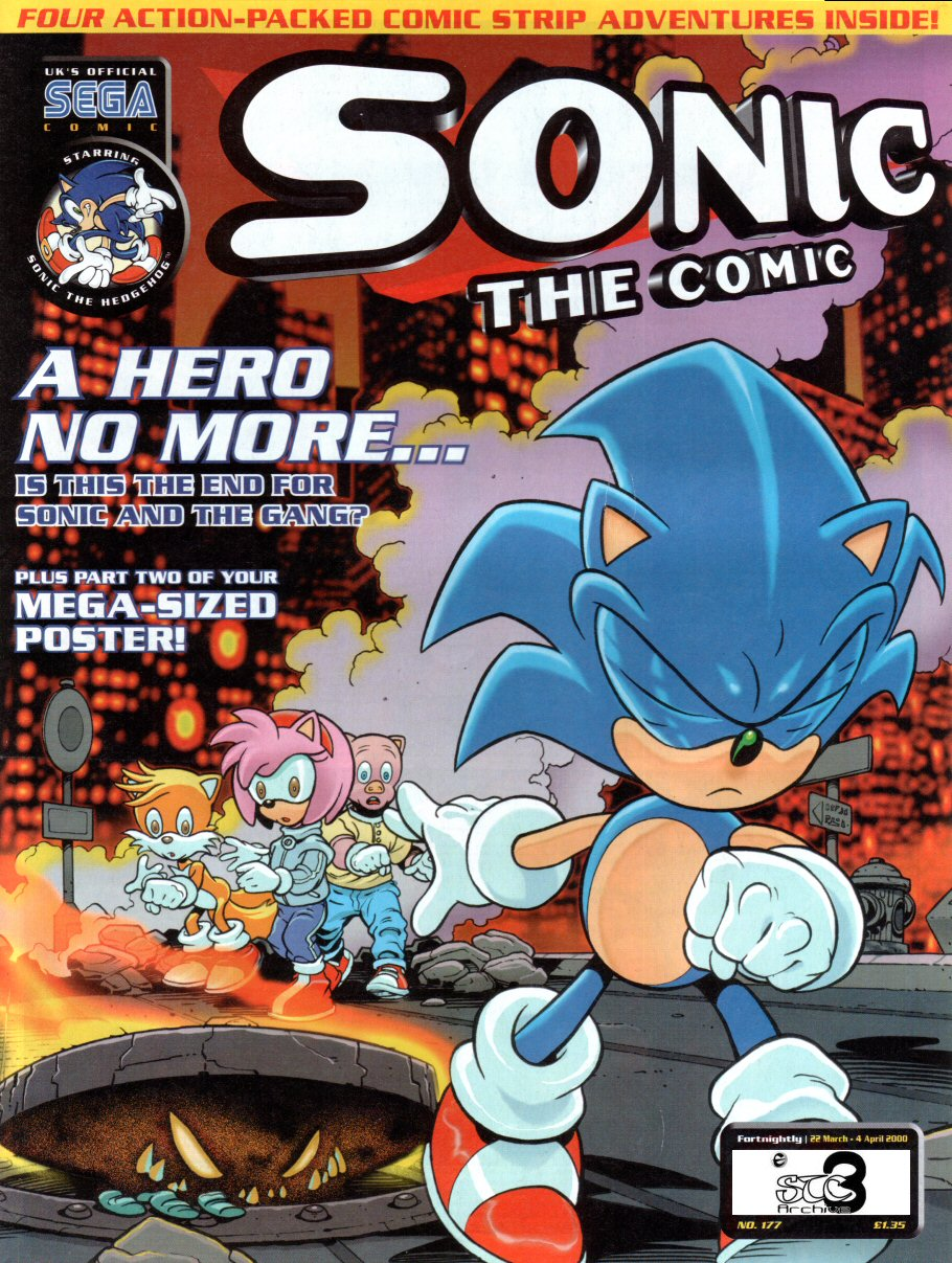 Sonic - The Comic Issue No. 177 Comic cover page
