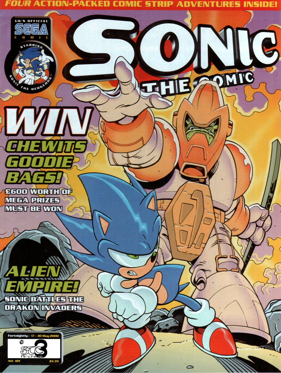 Sonic - The Comic Issue No. 181 Cover Page
