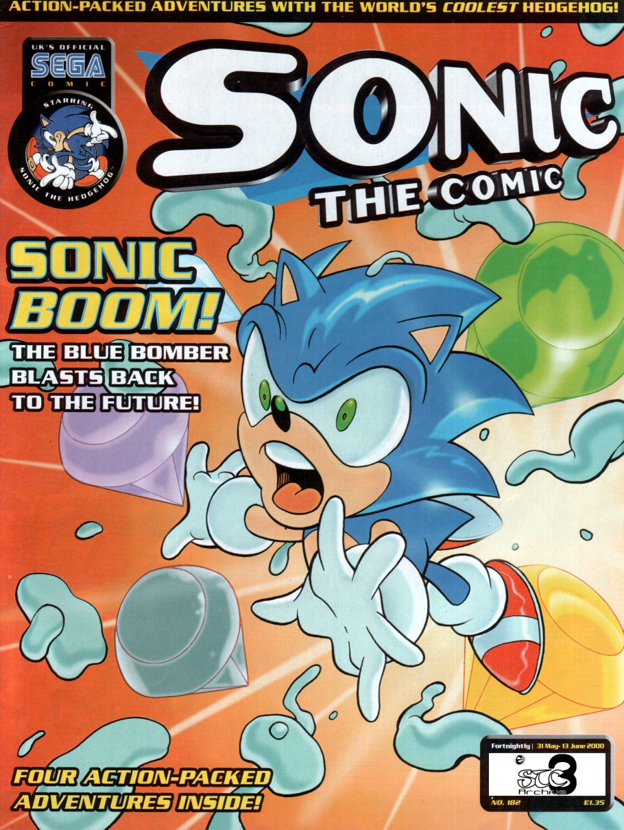 Sonic - The Comic Issue No. 182 Comic cover page