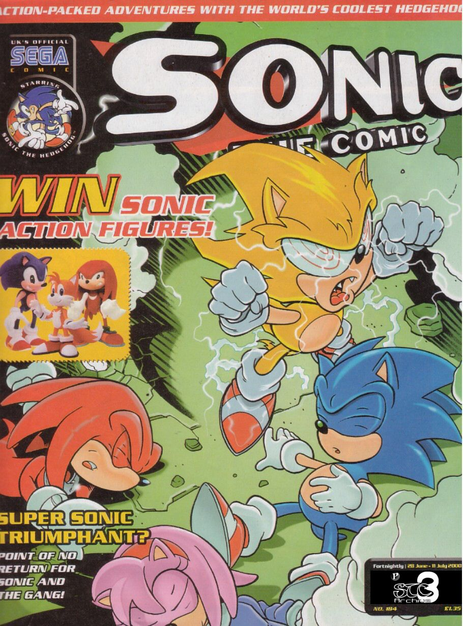 Sonic - The Comic Issue No. 184 Comic cover page