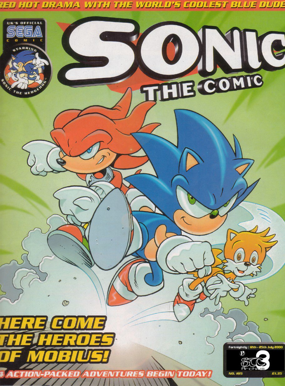 Sonic - The Comic Issue No. 185 Comic cover page