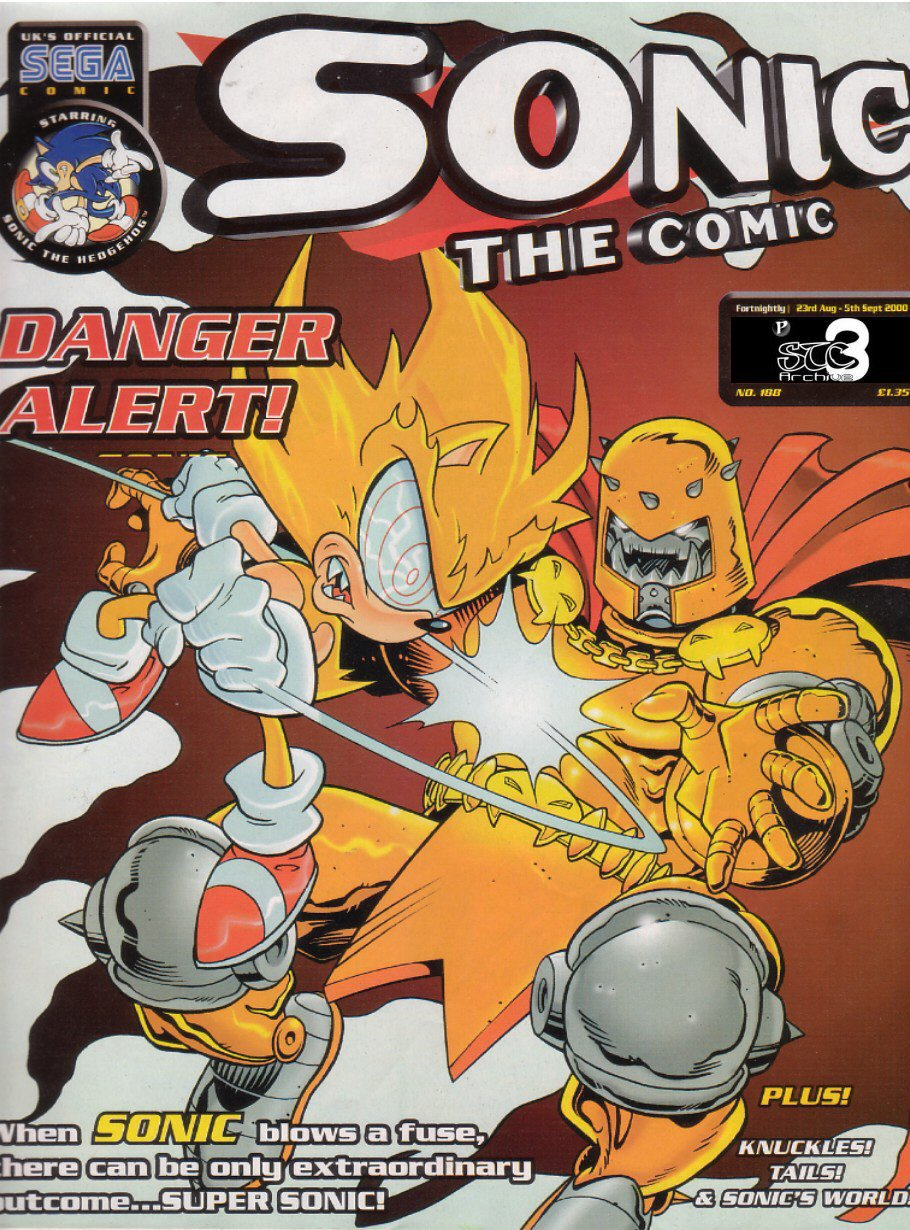 Sonic - The Comic Issue No. 188 Comic cover page