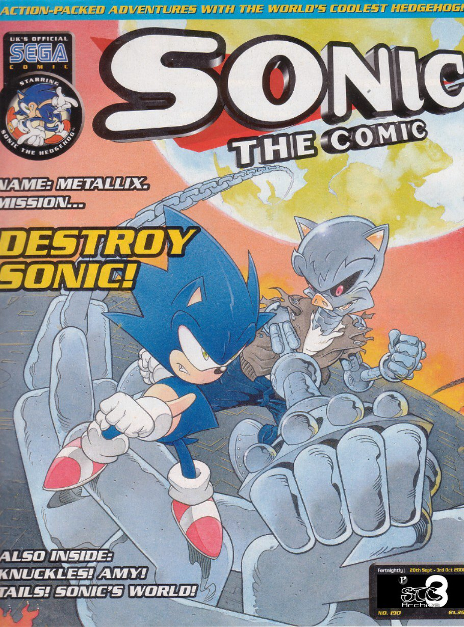 Sonic - The Comic Issue No. 190 Comic cover page