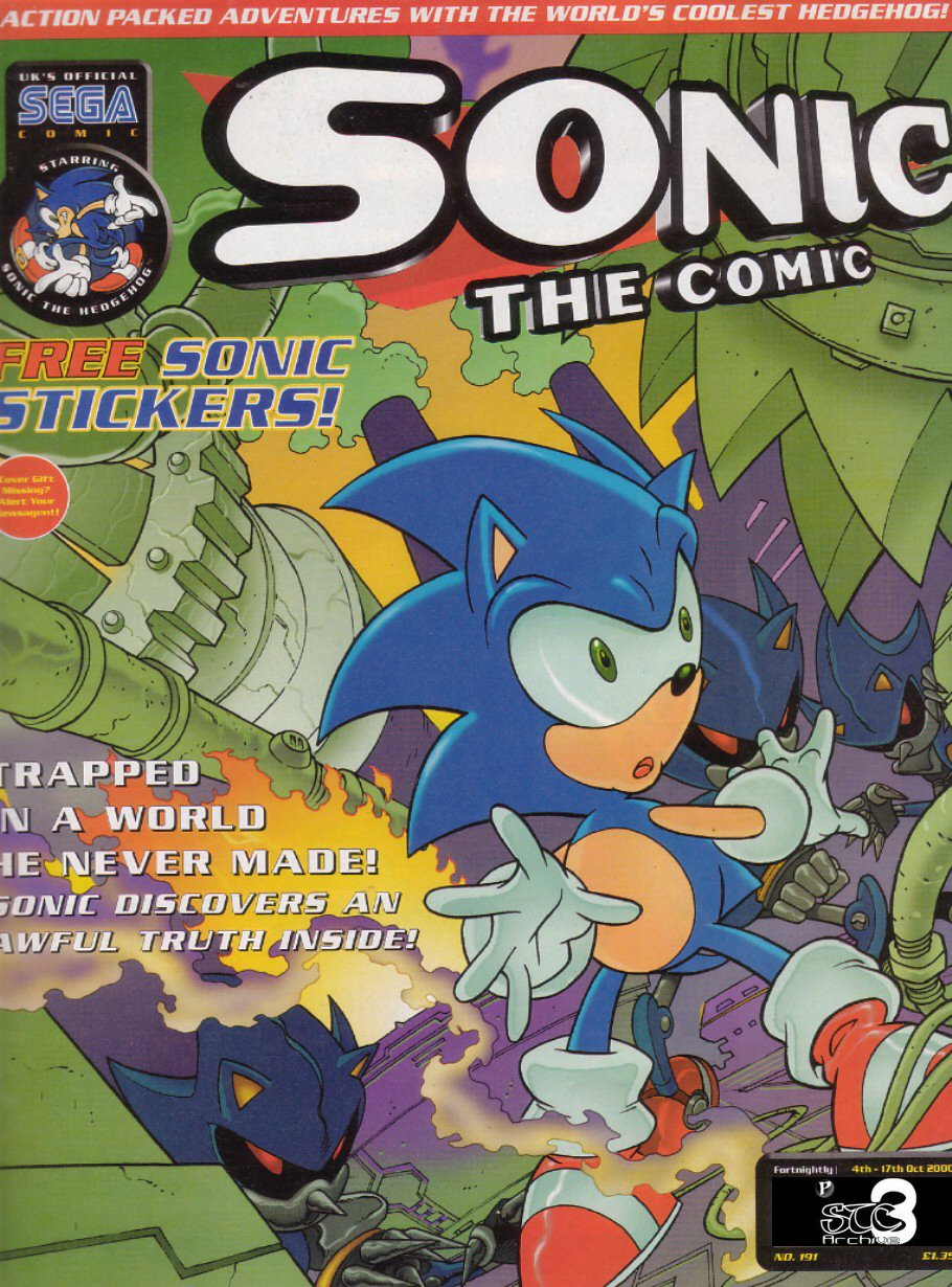 Sonic - The Comic Issue No. 191 Comic cover page