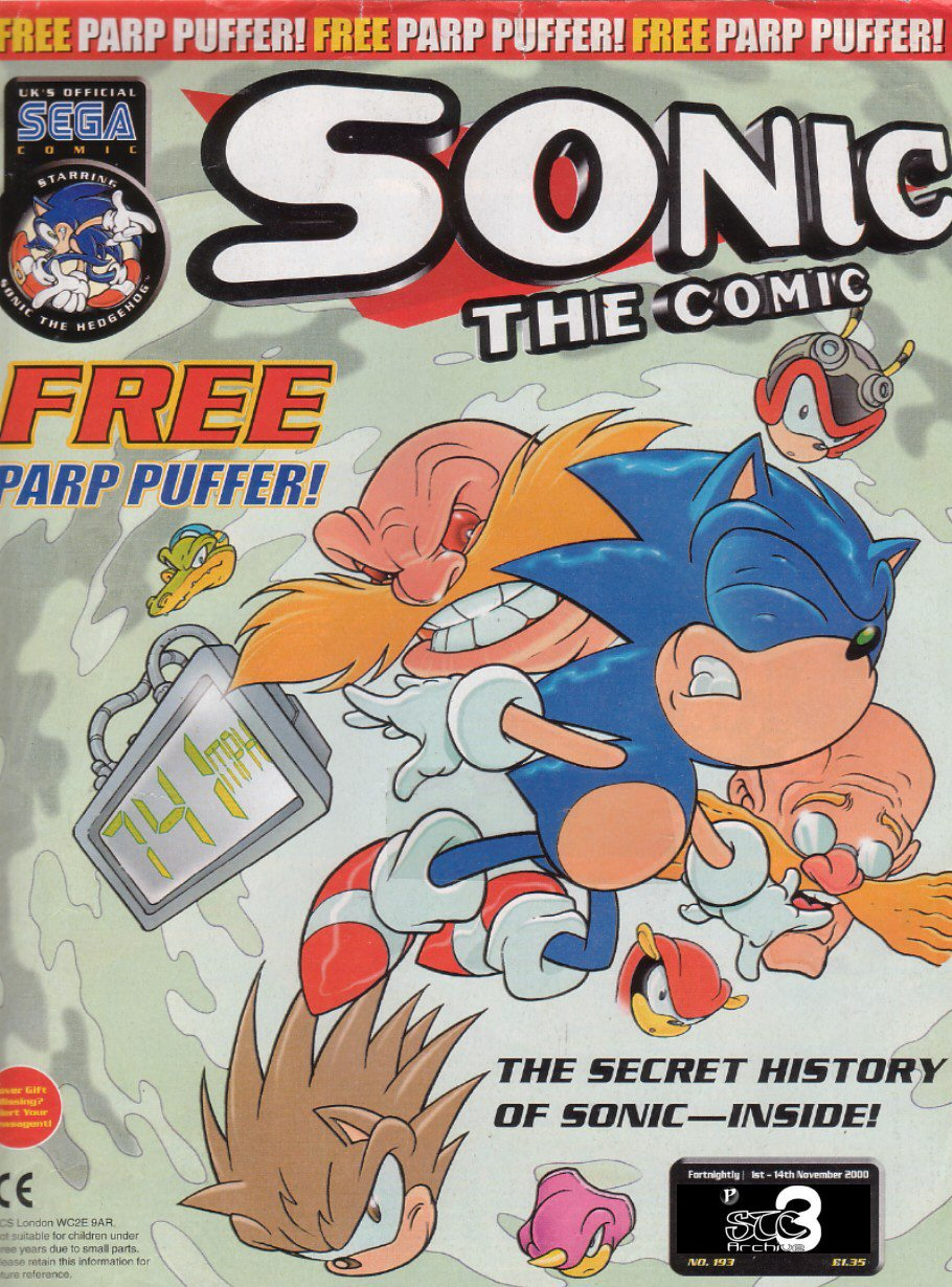 Sonic - The Comic Issue No. 193 Comic cover page
