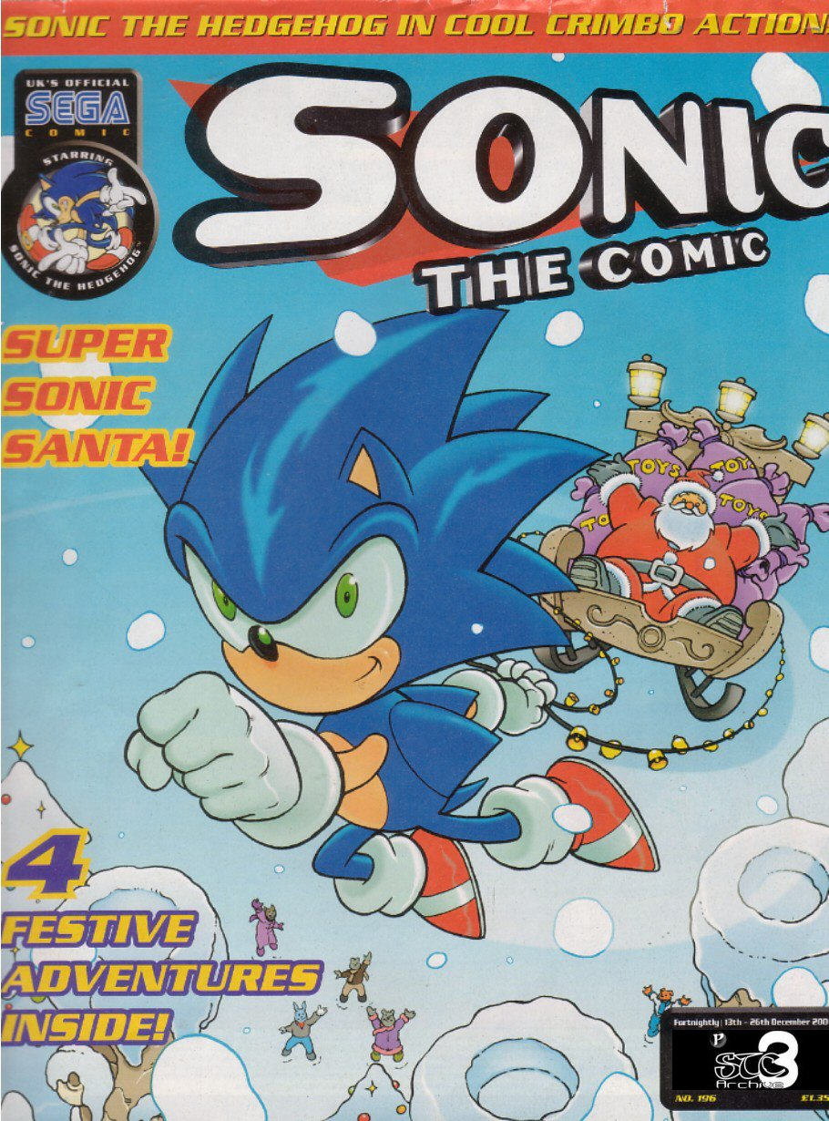 Sonic - The Comic Issue No. 196 Cover Page