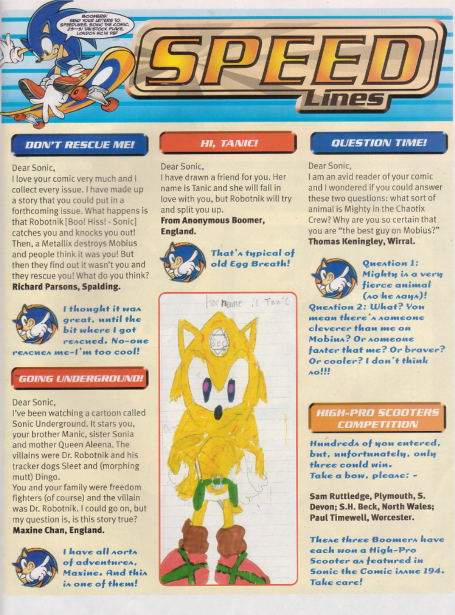 Sonic - The Comic Issue No. 200 Page 1