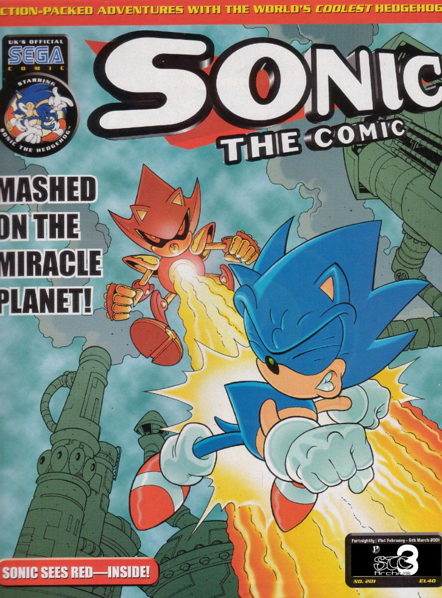 Sonic - The Comic Issue No. 201 Comic cover page