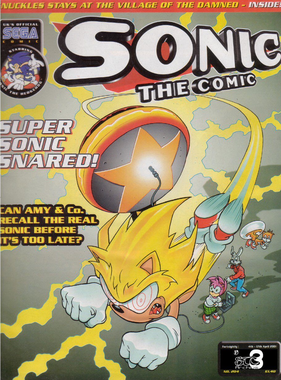 Sonic - The Comic Issue No. 204 Comic cover page