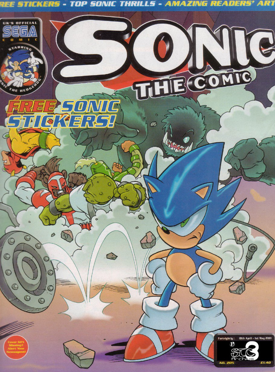 Sonic - The Comic Issue No. 205 Comic cover page