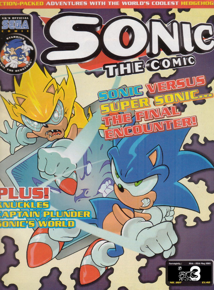 Sonic - The Comic Issue No. 207 Cover Page
