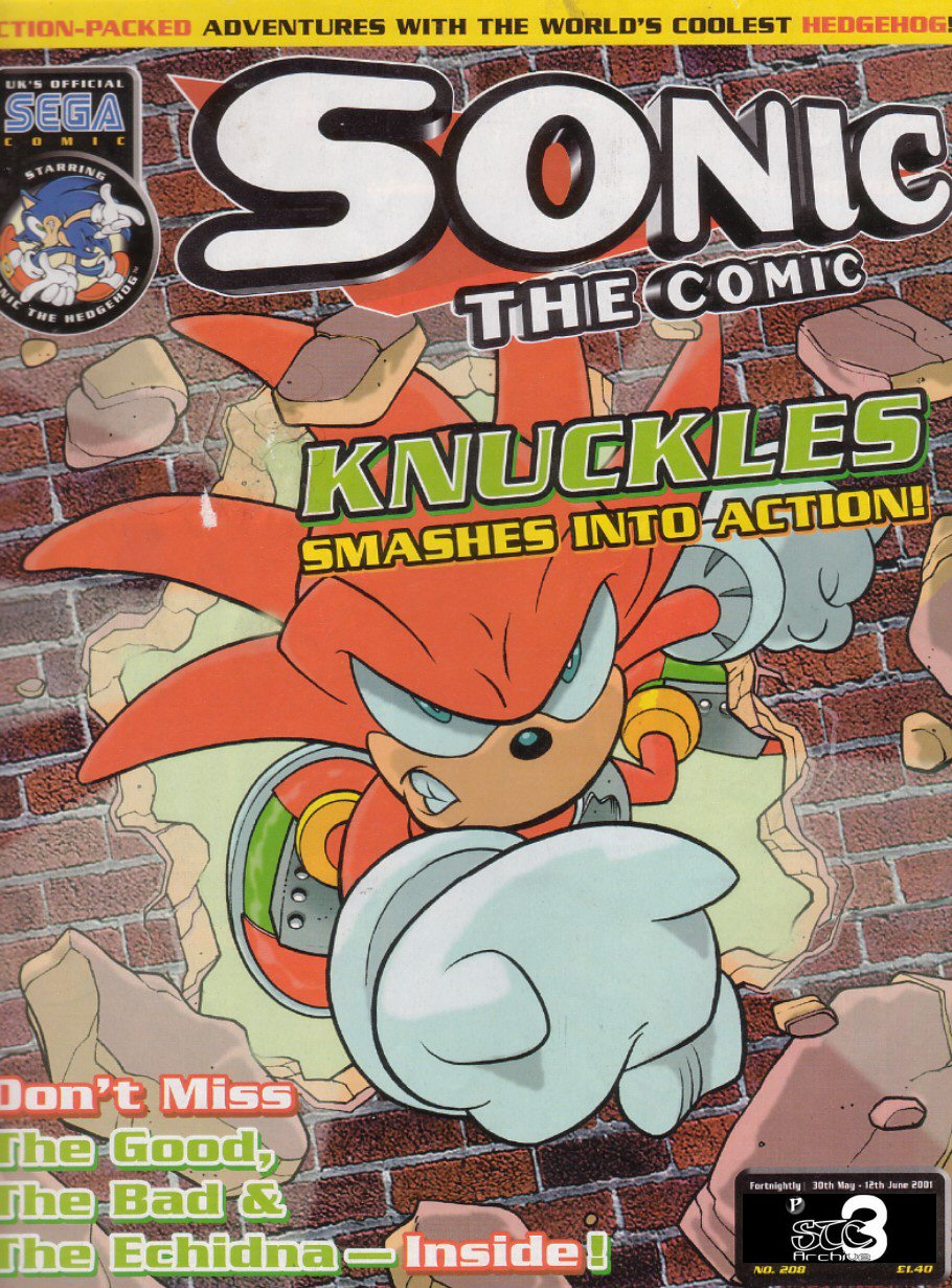 Sonic - The Comic Issue No. 208 Comic cover page