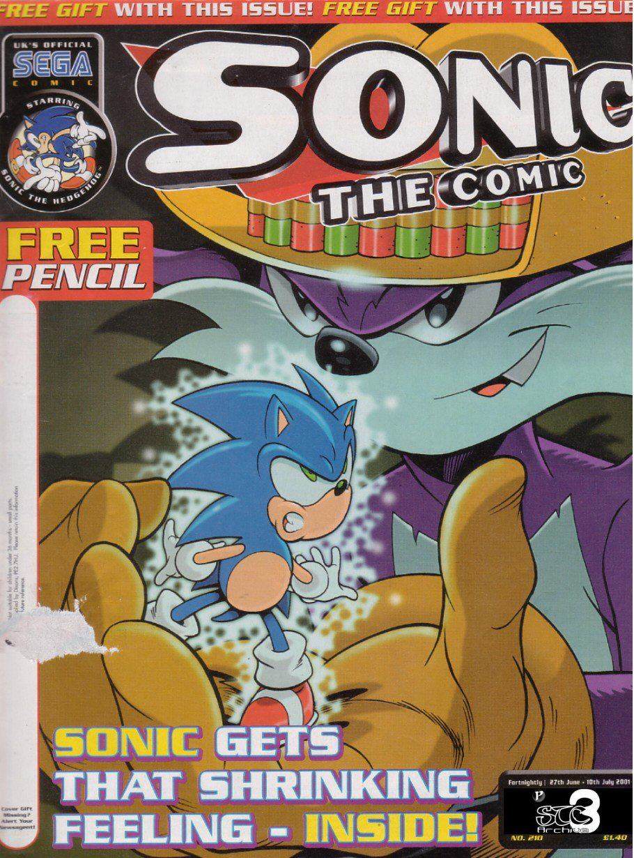Sonic - The Comic Issue No. 210 Comic cover page