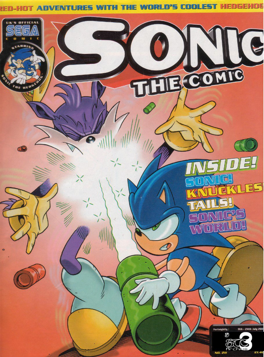 Sonic - The Comic Issue No. 211 Cover Page