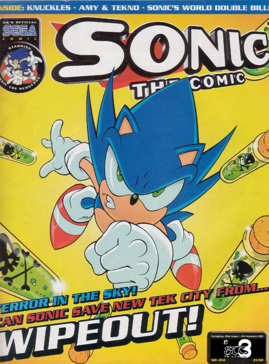 Sonic - The Comic Issue No. 214 Comic cover page