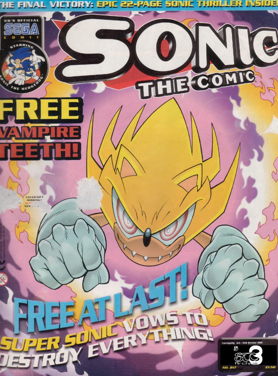 Sonic - The Comic Issue No. 217 Comic cover page