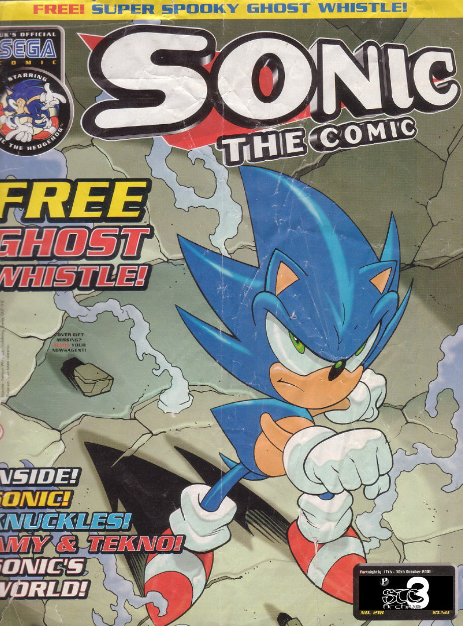 Sonic - The Comic Issue No. 218 Comic cover page