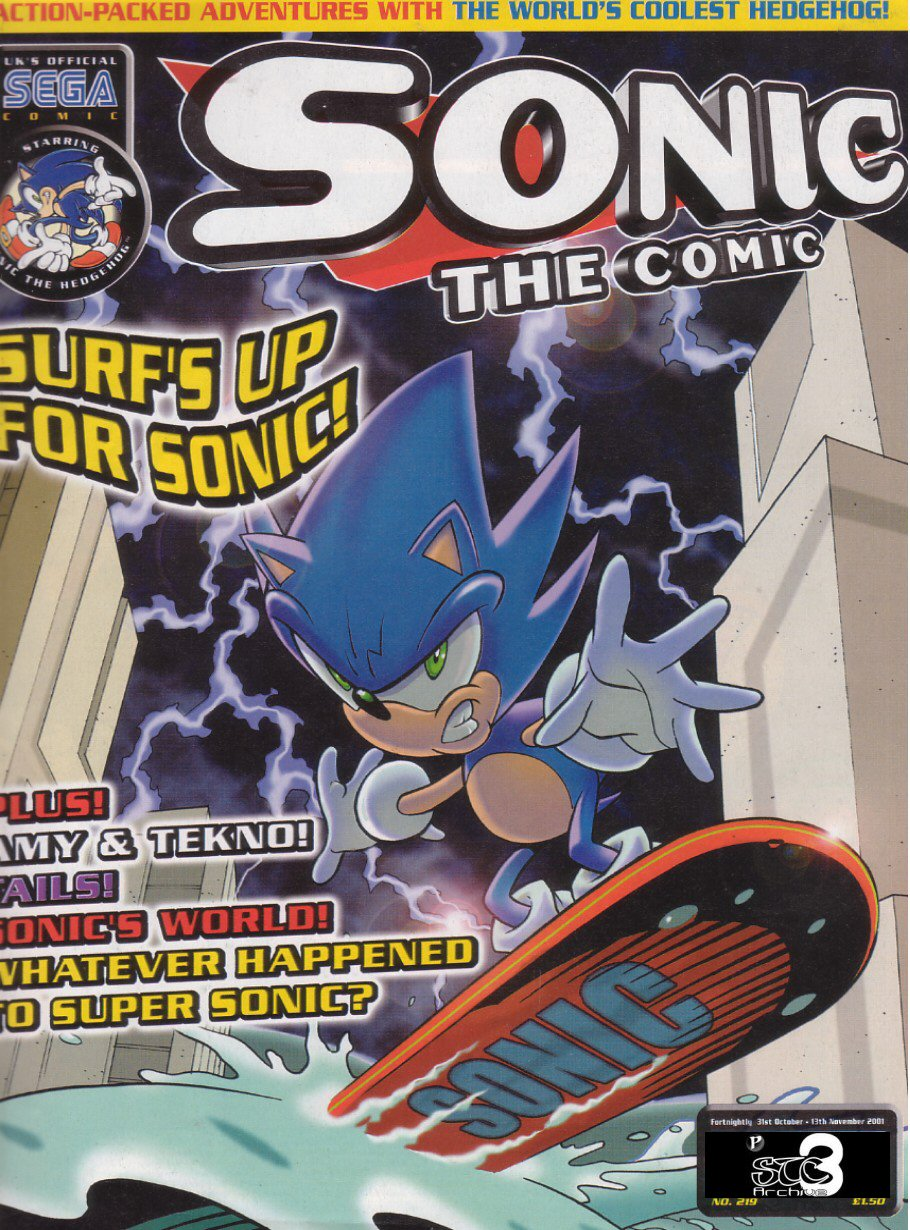 Sonic - The Comic Issue No. 219 Comic cover page