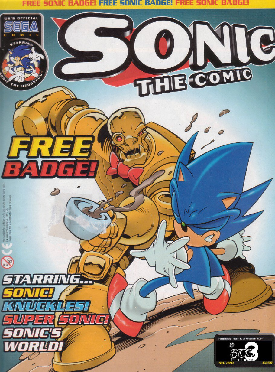 Sonic - The Comic Issue No. 220 Comic cover page