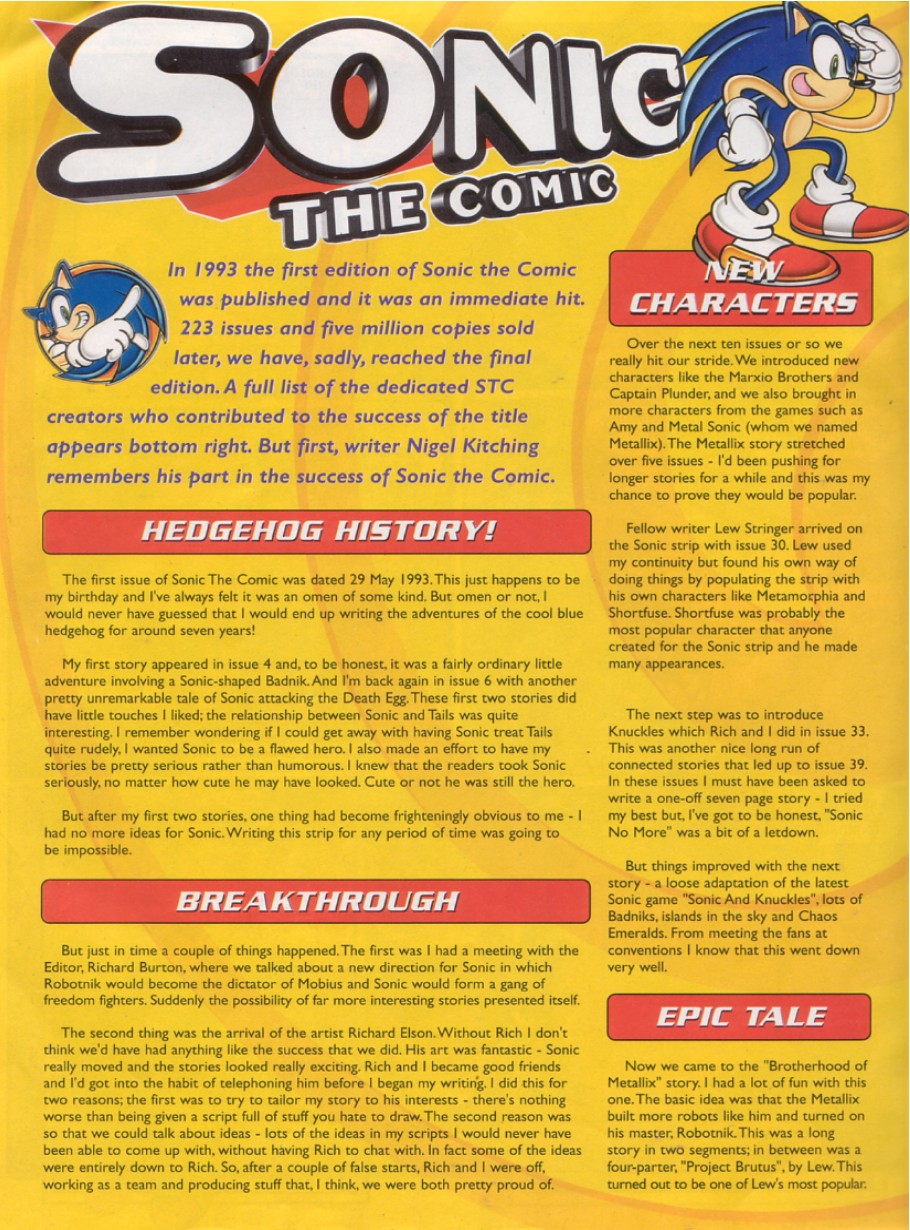 Sonic - The Comic Issue No. 223 Page 1