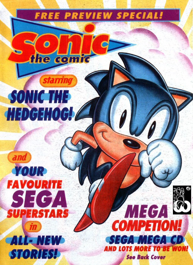 Sonic the Comic Preview Special Comic cover page