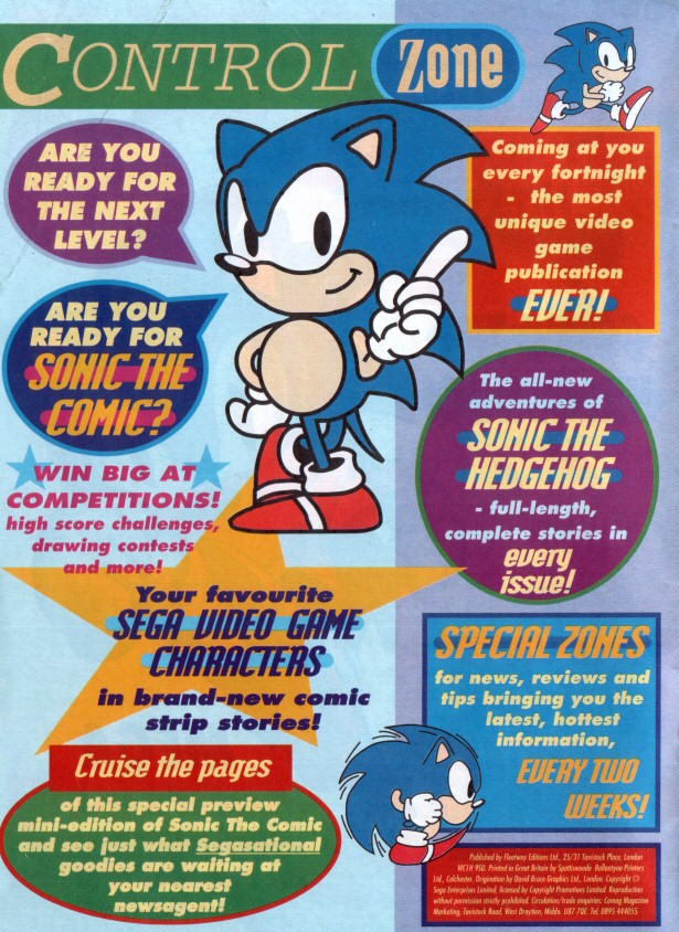 Sonic the Comic Preview Special Page 1