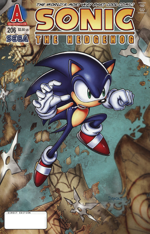 Sonic - Archie Adventure Series January 2010 Comic cover page