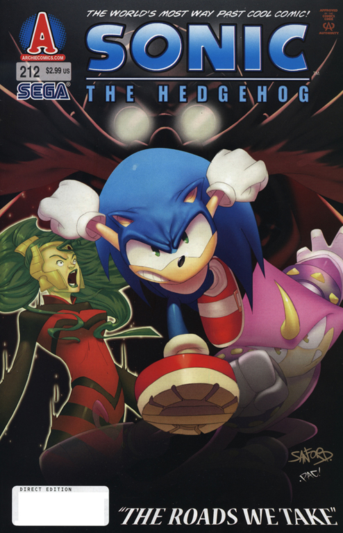 Sonic - Archie Adventure Series July 2010 Comic cover page