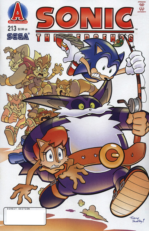 Sonic - Archie Adventure Series August 2010 Comic cover page