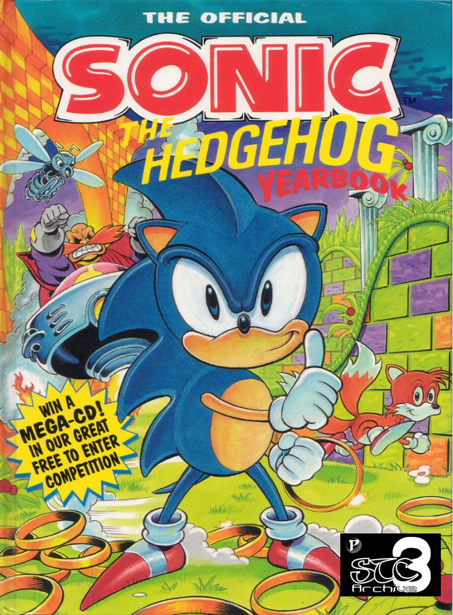 Sonic the Hedgehog Yearbook 1991 Comic cover page