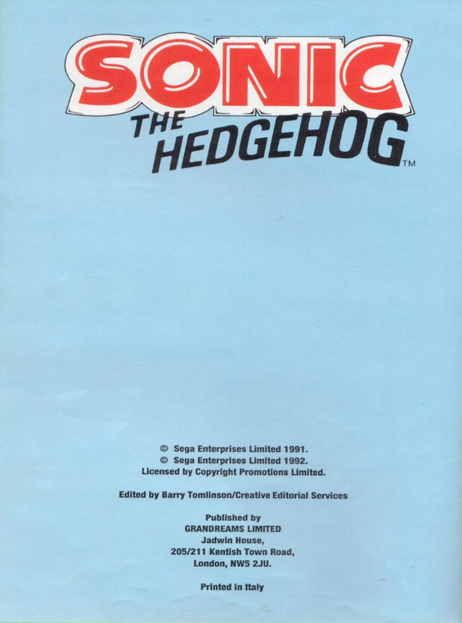 Sonic the Hedgehog Yearbook 1991 Page 3