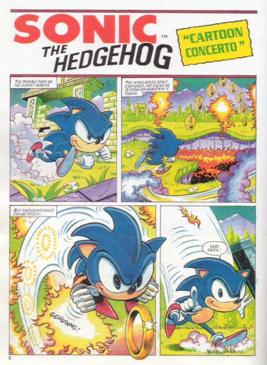 Sonic the Hedgehog Yearbook 1991 Page 5