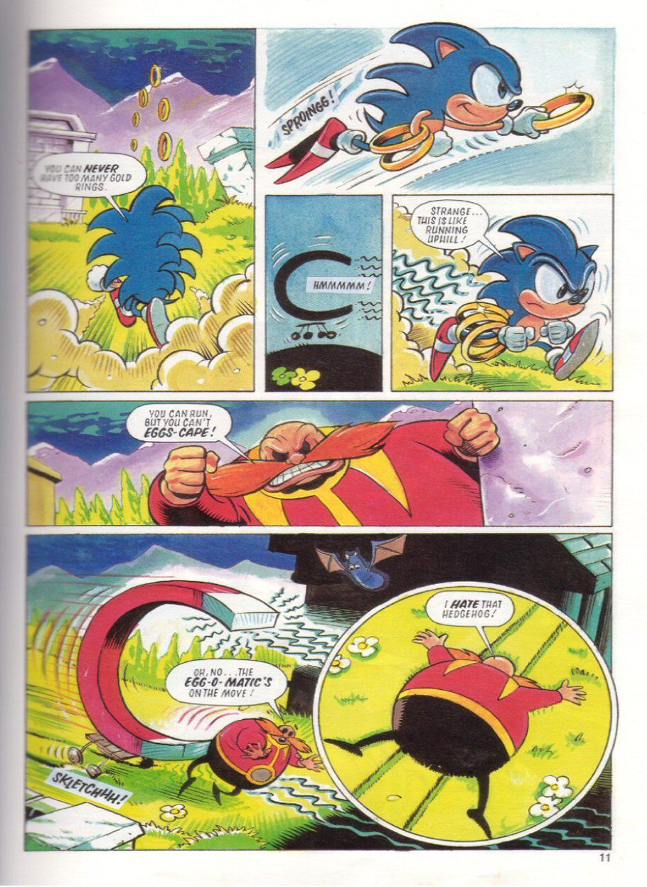Sonic the Hedgehog Yearbook 1991 Page 10