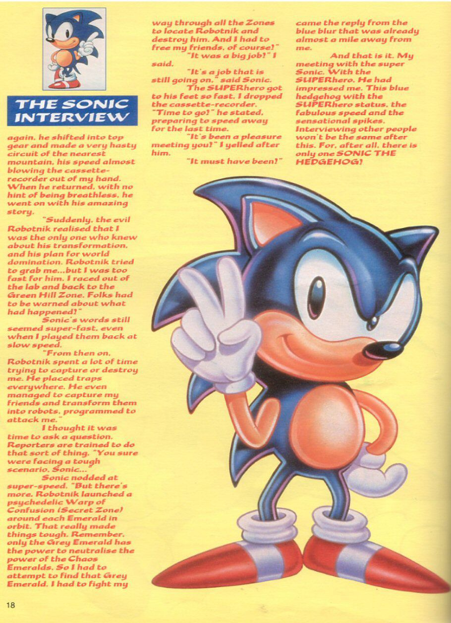 Sonic the Hedgehog Yearbook 1991 Page 17