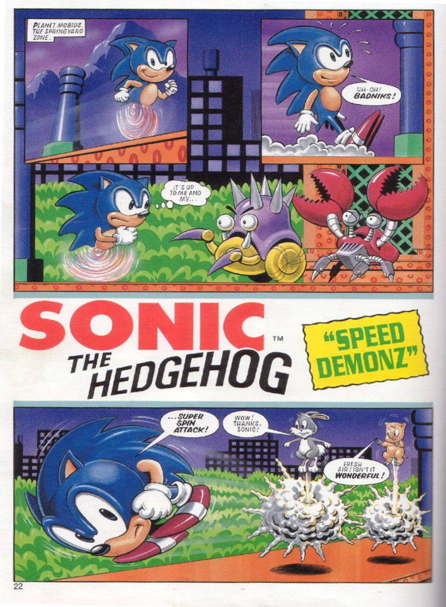 Sonic the Hedgehog Yearbook 1991 Page 21