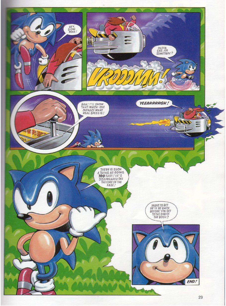 Page 28 Sonic The Hedgehog Yearbook 1991 Emuparadise Org