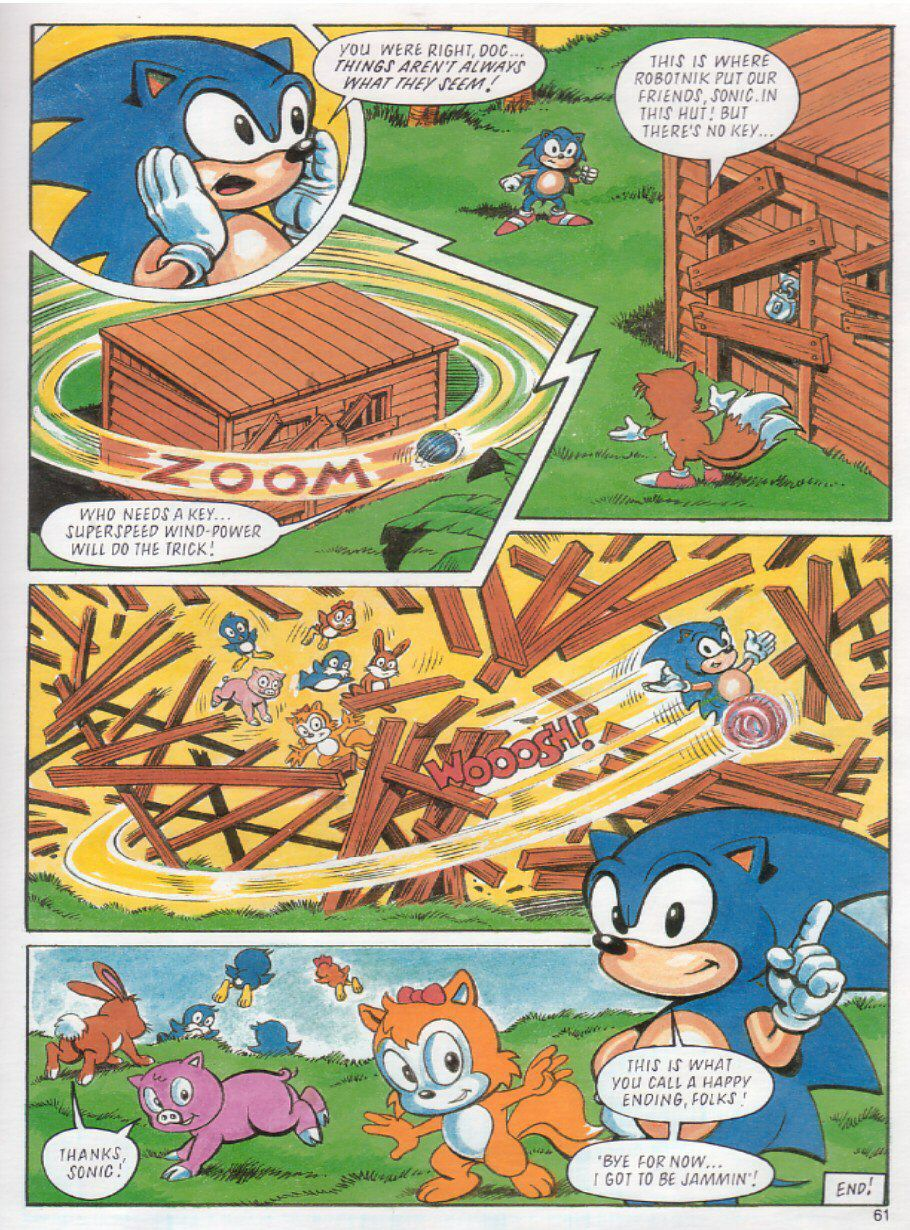 Sonic the Hedgehog Yearbook 1991 Page 57