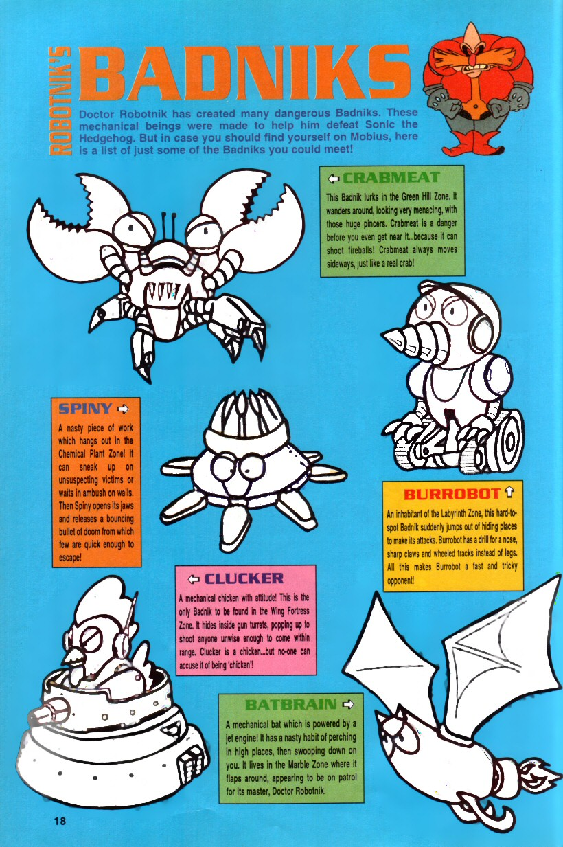 Sonic the Hedgehog Yearbook 1992 Page 14