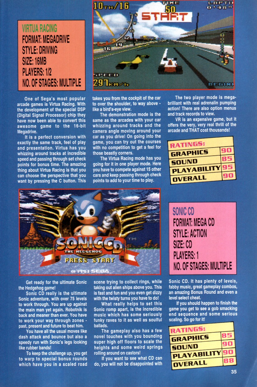 Sonic the Hedgehog Yearbook 1992 Page 31