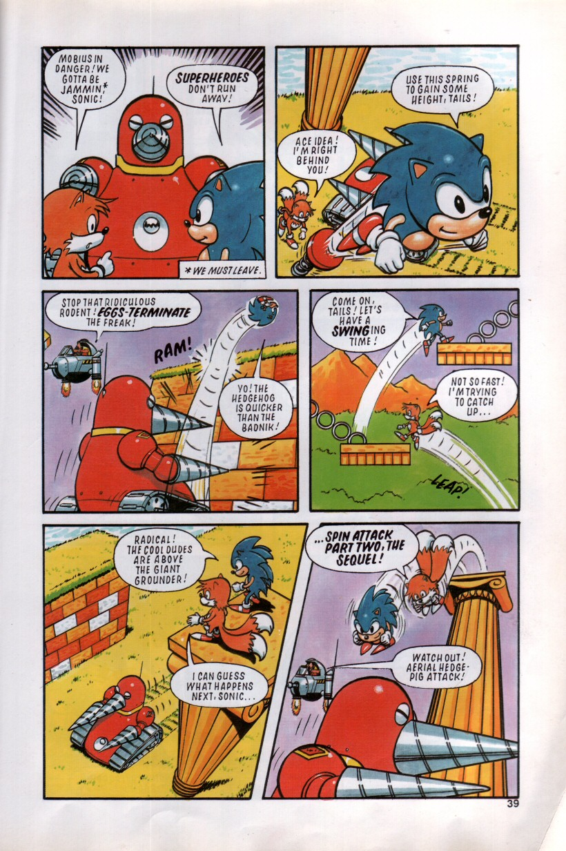 Sonic the Hedgehog Yearbook 1992 Page 35