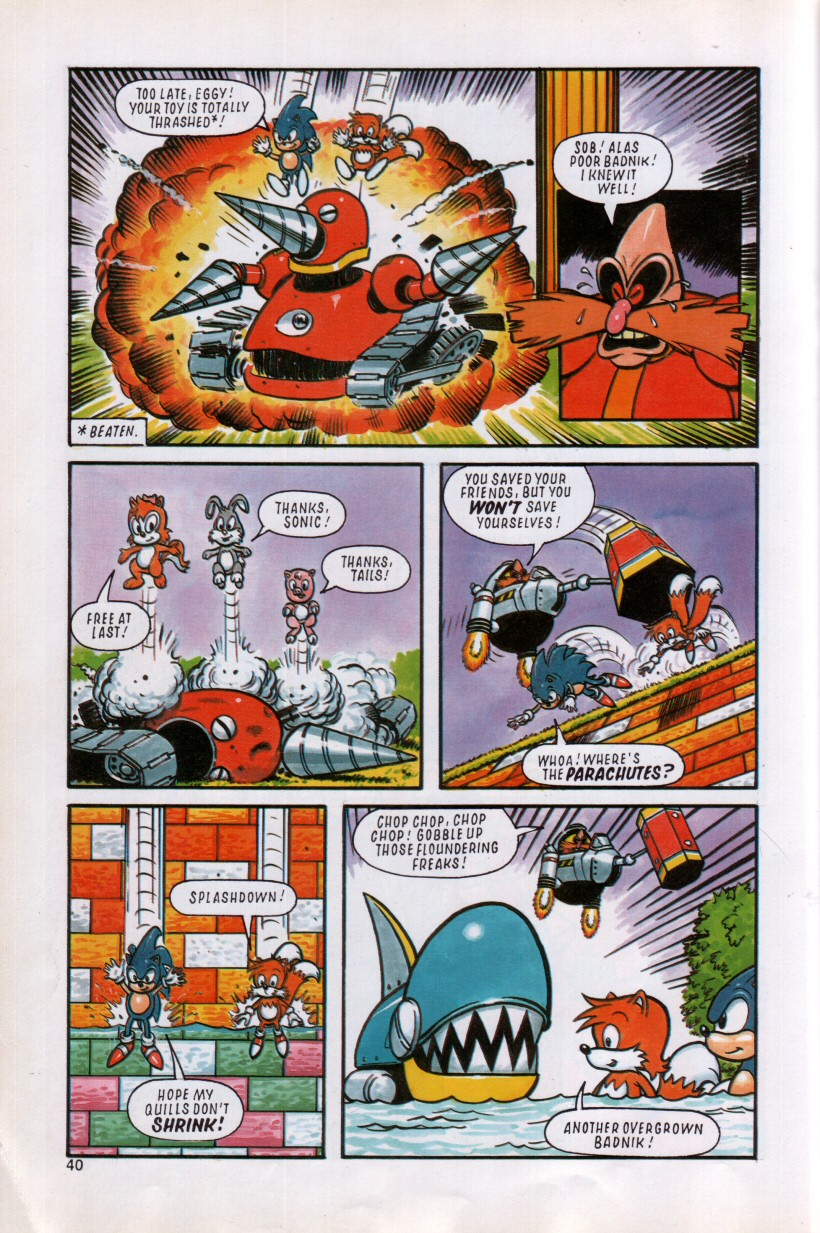 Sonic the Hedgehog Yearbook 1992 Page 36